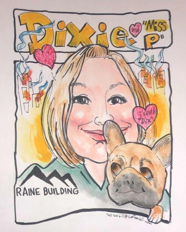 Raine Building Caricature - 8